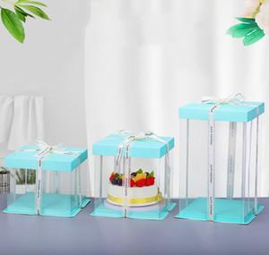 """6 """"Прозрачная коробка для пирога 50 шт. Clear Box Упаковка Свадьба День рождения Chirstmas Fait Cake Chocolate Candy Подарочное событие Прозрачный Box Case VT1890"""