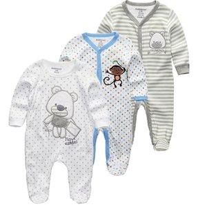 Kiddiezoom 2/3/4 шт / комплект для младенцев мальчиков рубашки одежда комплекты для новорожденных мальчиков одежда ползунки лета roupa INFANTIL снаряжение костюмы Y1105