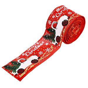 Nouveau ruban fournitures de décoration de Noël coloré voiture Noël ruban décoration d'arbre de Noël de bande de couleur 3 styles T3I51343