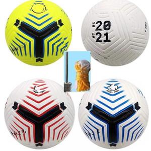 Club League 5 balles 2021 Soccer Ball Taille 5 Haute-Grade Beau Match Liga Première Finales 20 21 Boules de football (expédier les balles sans air)