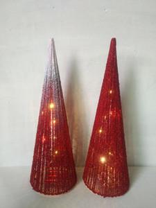 Happy Christmas decorations Christmas window decorations Cone luminous LED modeling Christmas scene layout shiny cute decorations