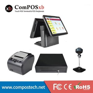 Windwos Point Of Sale Dual screen 15 + 15 inch iPos System Windows Terminal Touch Screen All In One Pc For Restaurant1