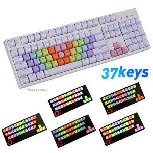 Durable 37 teclas PBT luz de fondo colorido teclado mecánico Keycaps cubre el reemplazo Ratones Teclados retroiluminación Keycaps