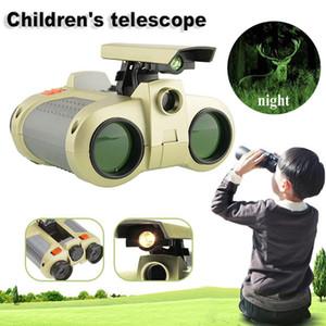 4x30 Kinder Fernglas Nachtsicht Teleskop Pop-up Light Night Vision Scope Fernglas Neuheit für Kid Boy Toys Geschenke mit Geschenkbox
