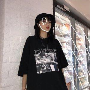 harajuku T shirts Women Simple Tops letter Printed Korean Summer t shirt hip hop streetwear Leisure All match Short Sleeve Tees