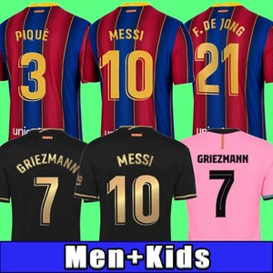 Top Thailand Qualität 19 20 21 BARCELONA Fußballtrikot BARCA Camisetas Futbol 2020 2021 MESSI SUAREZ GRIEZMANN DE JONG Fußballtrikots