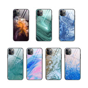 Gradient Marble Tempered Glass anti-drop Phone Case For iPhone 11 Pro Max XR XS Max 8 7 6S Plus X SE 2020 Cover