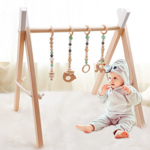 Wooden baby gym 4 wooden fitness toy baby tooth pads stable folding gym frame wooden baby gift