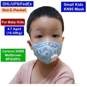 Crianças Face Mask 4-8 Padrão Impressão Cattoon Pequeno Bebê Pequeno Com Luz Respiração Vlave Descartável PM2.5 Máscara protetora de poeira