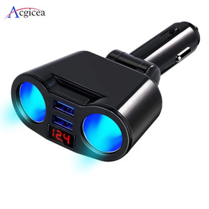 USB Car Charger 3.1A Car Cigarette Lighter Socket Splitter Plug LED Car Charger Adapter For phone