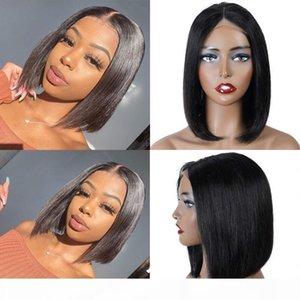 Brésilienne cheveux vierges Bob dentelle avant perruque de lacet pleine dentelle Perruques de cheveux humains Naturelle Couleur naturelle Pas d'enchevêtrement avec des cheveux de bébé pour les femmes blackwomen