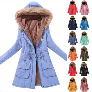 Fashion Hooded Parkas Winter Jacket Women Faux Fur Jacket Female Slim Zipper Collar Outerwear Coat Plus Size Chaqueta De Mujer