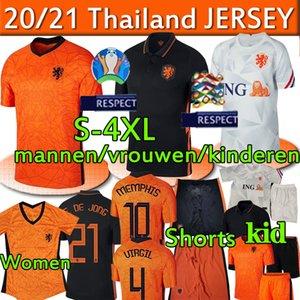 هولندا لكرة القدم بالقميص جيرسي الوطني هولندا F. DE JONG DE تجلى جانب فيرجيل ممفيس الرجال والنساء والأطفال للرجال أطفال قميص السراويل 20 21