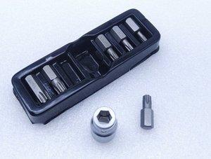 "New'in 7pcs 10mm Torx TAMOEROROOF Bitsler T25 - Spline Torx Hex RIBE L30mm S2 XRMq için # 1/2"" Dönüşüm kollu Socket ile T50"