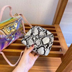 2020 Womens Luxury Designer Purses Fashion Clear Laser Transparent Lady Shopping Handbags With Long Shoulder Belt Crossbody Bag