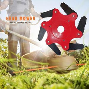 Sıcak Satış 65Mn Çim Giyotin Kafa Bahçe Çim Biçme Yeni UF3Y # 6 Diş Fırçası Kesici Bıçak Çim Biçme Aksesuarları Çim Makası Blade
