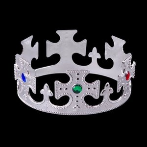 Halloween King Crown Birthday Crown of Children Adult Christmas Masquerade Decoration Cosplay Props Silver Golden Wholesale