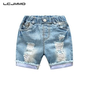 LCJMMO Haute Qualité Baby Boy Shorts Jeans Summer Boys déchiré Denim Coton Casual Kids Pantalons courts pour enfants Pantalon 2-6Years Y200409