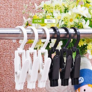 Coat clip rotatable plastic curtain clip Multi-purpose belt loop supermarket hat clip display plastic hook