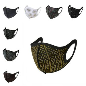 Anti-Dust DHL Rhinestone Face Sequin Mask Washable L688FA Adult Protection Shipping Sublimation Protective Masks Reusable Ntemp