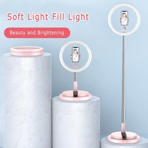 Hot Y2 Professional Floor-standing LED Round Fill Light Set 240 Lamp Beads with Ring Base 3 Colors Dimmable Light Source Lights