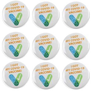I Got My Recipient Notification CDC Encouraged Public Health Pinback Button Badges Round Brooch