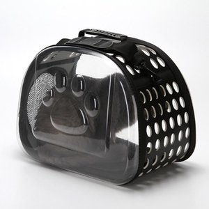 Şeffaf taşınabilir Pet Carrier Mesh Rahatlık Seyahat Bez Omuz Çantası Kedi Köpek Köpek Küçük Hayvan nefes Sling Carrier