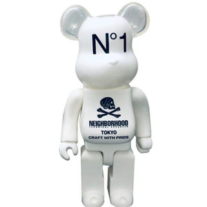 HOT 400% 28CM Bearbrick Evade glue Skull White and Black bear figures Toy For Collectors Be@rbrick Art Work model decorations kids gift