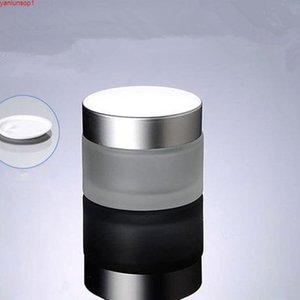 50G матовое стекло банка пустое кремовое банка косметические контейнеры для упаковки кастрюля с крышкой для крема для рук тушь контейнер бесплатные Shippingshipping