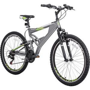 Bicicletta da 26 pollici in mountain bike con sospensione integrale in lega di alluminio a 2 velocità in lega di alluminio