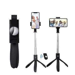 K06 sans fil Bluetooth selfie bâton pliable poche extensible monopode obturateur à distance pour téléphone intelligent Trépied extensible avec boîte de détail