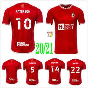 2020 2021 Bristol Weimann City Soccer Jerseys Mawson Martin Diedhiou Paterson Wells Massengo Kalas Dasilva Custom Home Red Football Shirts