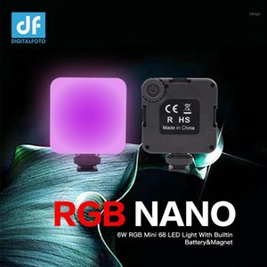 RGB NANO 6W RGB Mini 68 LED Video Light With Builtin Battery&Magnet for Photographer Studio Vlogging1
