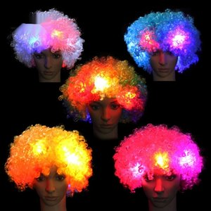 headgear explodindo LED palhaço de flash cocar fornece chapéu Luminous chapelaria Luminous Fan explodindo peruca LED cocar de flash peruca do palhaço fa
