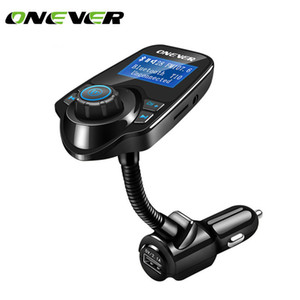 Onever lector FM wireless \ \ 124; car case, Bluetooth audio, free hand, FM transmitter, wireless modulator, LCD screen, USB charger, black