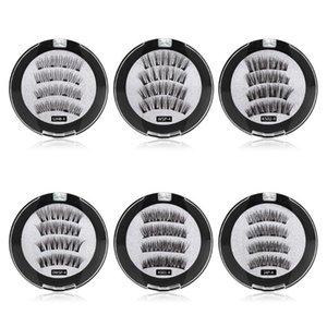 Magnetic Natural False Eyelashes Reusable 3D Magnets Fake Eye Lashes No Glue Makeup