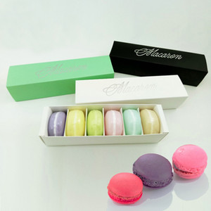 Amazon Hot Sale Macaron Box 6 шт. Торт ящики Домашний Macaron Шоколадные коробки Бисквита Буффин Коробка Розничная Бумага Упаковка DHL Бесплатная Доставка