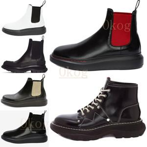 2021 Ultime Designer Designer Boots Martin Treek Slick Lace Up Alta Suola Spessa Suola elastica Boot Boot Real Leather Winter Shoes Shoes Dimensioni 35-40