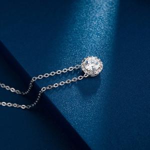 Luxury Angeli Angel Wheel Dot Necklace round Female Pendant Swarovski Elements Crystal Clavicle Chain Generation Fashion Design