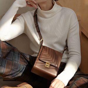 خمر أكياس crossbody للنساء مصمم حقيبة الإناث الفاخرة بو الجلود حقائب الكتف سيدة رفرف صغير المحافظ جودة حقيبة 2020 C1016