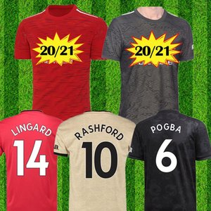 2020 2021 Manchester RASHFORD BRUNO FERNANDES soccer jersey MARTIAL JAMES football jerseys shirts united UTD 19 20 21 equipment Size: S-4XL