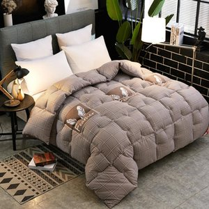 Autumn Winter Thicken Warm Quilt Blanket Double King Queen Bed Cover Bedding Skin-friendly Printed Comforter Home Hotel Duvets
