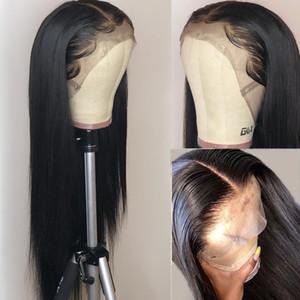 Wigirl 28 30 بوصة 13x4 الرباط الجبهة شعر الإنسان الباروكات قبل التقطه البرازيلي مستقيم ريمي الدانتيل أمامي لمة للنساء السود الكامل