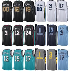 Print City Verdienter Ausgabe Basketball Grayson Allen Jersey 3 JA Morant 12 Jonas Valanciunas 17 Kyle Anderson 1 Team benutzerdefinierte Name Nummer