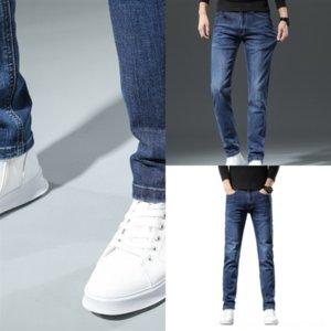 FFBGZ Ropa de otoño Hombres negros Jeans Cintura Elástica Jeans Diseñador De Invierno Boyfriend Jeans Para Hombre Hombre Largo Largo Hombre