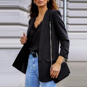 BigSweety 2021 PLUS Taille Vestes Femmes Business Costumes Spring Automne All-Match Femmes Manteaux Costume Slim Slim Short