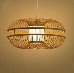 Bamboo Wicker Rattan Bud Pendant Light Fixture Rustic Japanese Modern Hanging Lamp Lustre Avize Luminairia Design Living Room