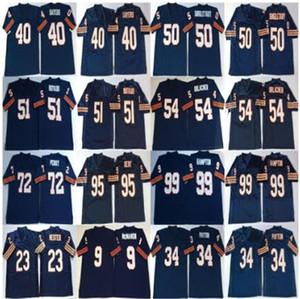 NCAA Devin Hester Jersey Jim McMahon Walter Payton Gale Sayers Mike Singletary Dick Butkus Blue Vintage Jerseys 100% STITCHED MENS