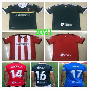 2020 2021 UD Logrones Soccer Jerseys ZELU VITORIA ANDY INAKI ERRASTI Custom 20 21 Logroñés Home Red Football Shirt Uniform