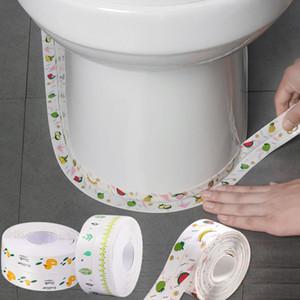 주방 스트립 아름다움 심 붙여 넣기 싱크 방수 및 곰팡이 방지 테이프 화장실 붙여 넣기 벽 모서리 라인